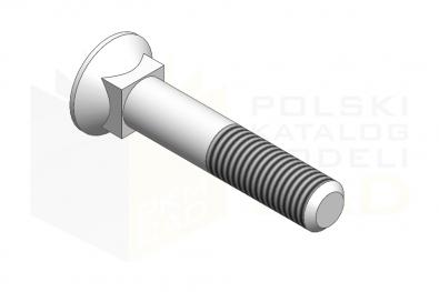 DIN 608_Śruba z łbem stożkowym - 8.8 - IsometricView
