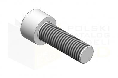ISO 4762_Śruba imbusowa - 8.8 - IsometricView