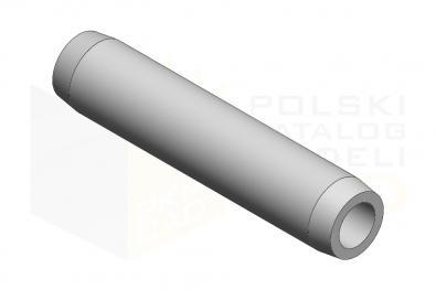 ISO 8748_Kołek sprzężysty zwijany wzmocniony - FSt - IsometricView