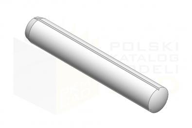 ISO 8740_Kołek z karbem równoległym na całej długości ze ścięciem - IsometricView