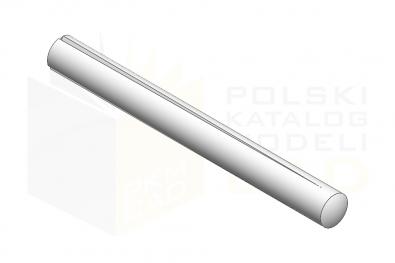 ISO 8744_Kołek z karbem zbieżnym na całej długości - IsometricView