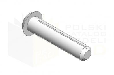 ISO 8746_Nitokołek z łbem kulistym - IsometricView
