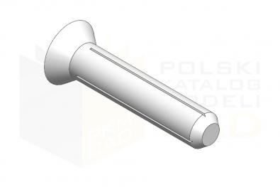 ISO 8747_Kołek z łbem stożkowym - IsometricView