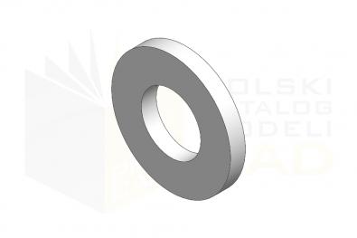 ISO 8738_Podkładka okrągła pod sworzeń - IsometricView