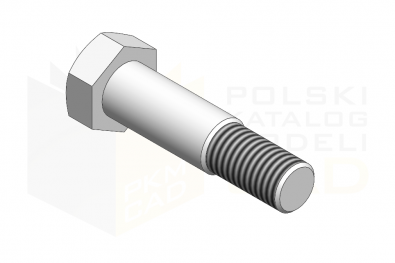 DIN 609_Śruba pasowana 8.8 - IsometricView