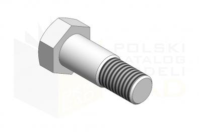DIN 610_Śruba pasowana 8.8 - IsometricView
