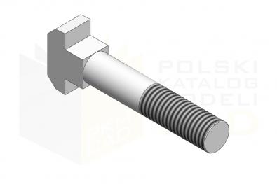 DIN 186_Śruba z łbem młoteczkowym - 3.6 - IsometricView