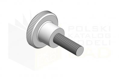 DIN 464_Śruba radełkowana - 5.8 - IsometricView