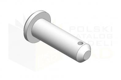 ISO 2341_Sworzeń z łbem walcowym - IsometricView
